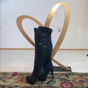Anne Michelle Thigh High Platform Boots